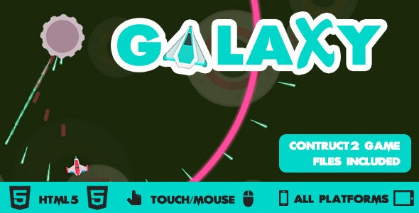Galaxy Wars Circular Shooter HTML5 Construct2 Game - CodeCanyon Item for Sale