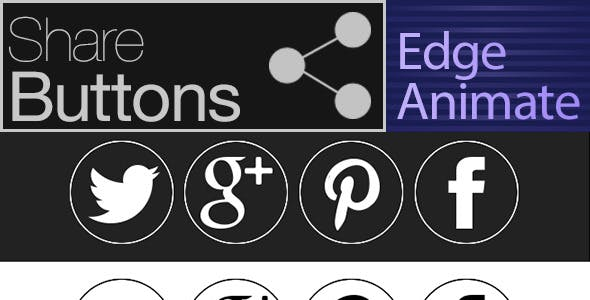Share Buttons -Edge Animate