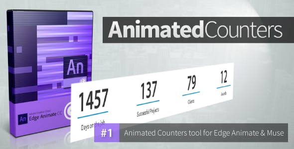 Animated Counters - Edge Animate Collection