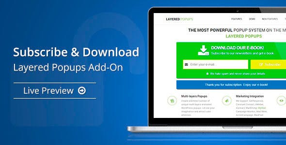 Subscribe & Download - Layered Popups Add-On - CodeCanyon Item for Sale
