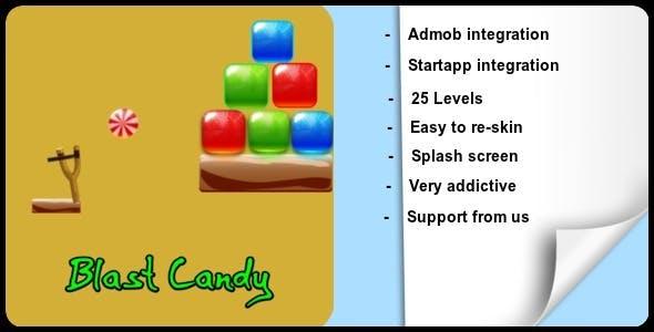 Blast Candy + Admob + Startapp