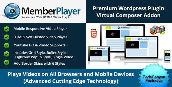 Ultimate HTML5 Video Addon for WP Bakery Page Builder (formely Visual Composer)