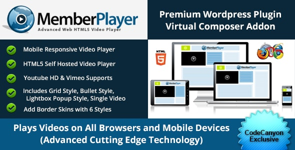 Ultimate HTML5 Video Addon for WP Bakery Page Builder (formely Visual Composer) - CodeCanyon Item for Sale