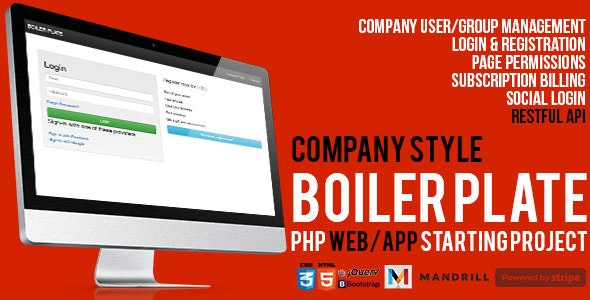 PHP Web/App Company User Subscription Management w Stripe - CodeCanyon Item for Sale