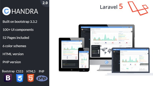 Chandra - Laravel Admin UI Kit - CodeCanyon Item for Sale