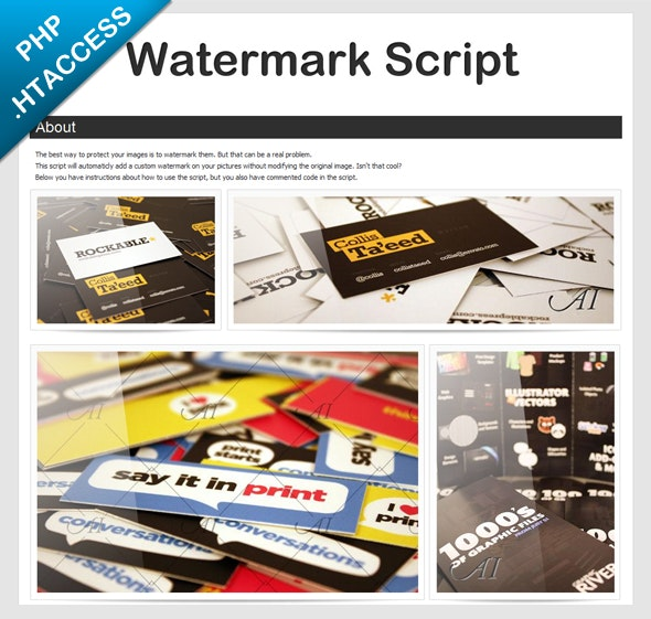 smartWatermark - php watermark script - CodeCanyon Item for Sale