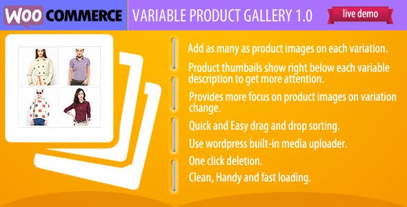 Woocommerce Variable Product Gallery