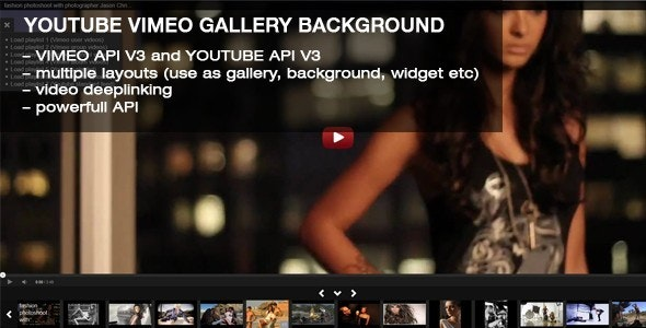 Youtube Vimeo Gallery Background - CodeCanyon Item for Sale