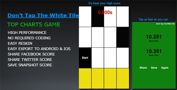Don't Tap The White Tile (Add more musics easily) - CodeCanyon Item for Sale