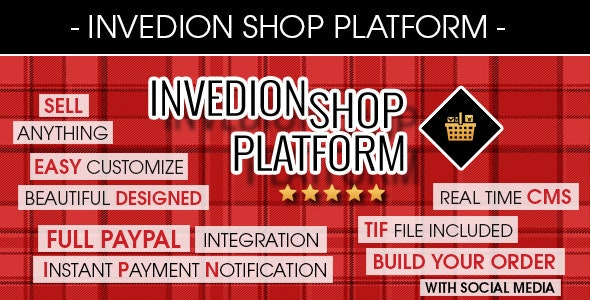 Invedion Shop Platform With Creator Engine And CMS - CodeCanyon Item for Sale