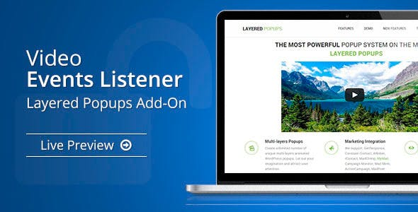 Video Events Listener - Layered Popups Add-On - CodeCanyon Item for Sale