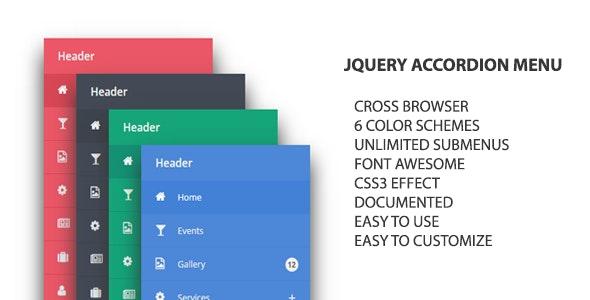 jQuery Accordion Menu - CodeCanyon Item for Sale