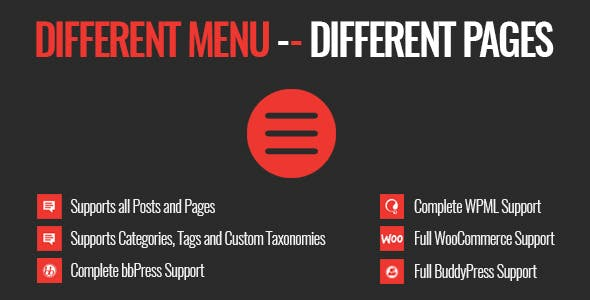 Different Menu in Different Pages        Nulled