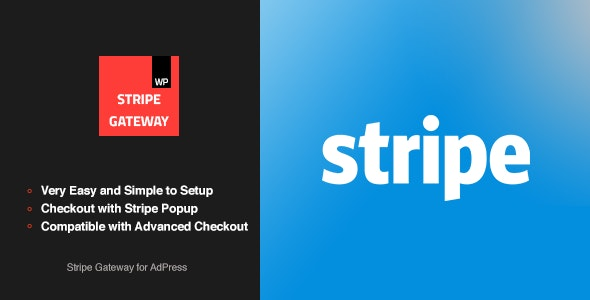 Stripe Gateway - AdPress Addon - CodeCanyon Item for Sale