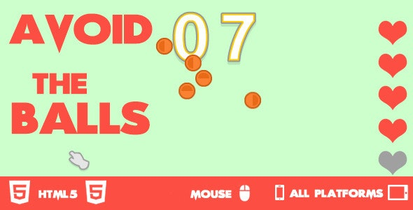 Avoid The Balls HTML5 Game - CodeCanyon Item for Sale