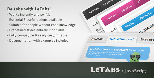 LeTabs - CodeCanyon Item for Sale