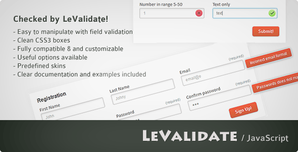 LeValidate - CodeCanyon Item for Sale