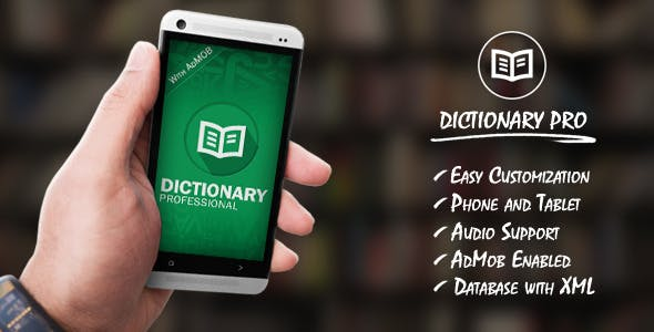 Dictionary Pro Template with AdMob