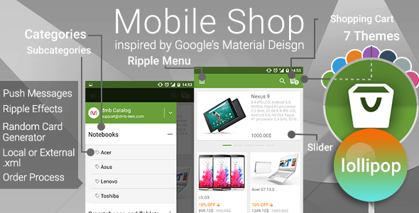 Mobile Shop with Push Notifications