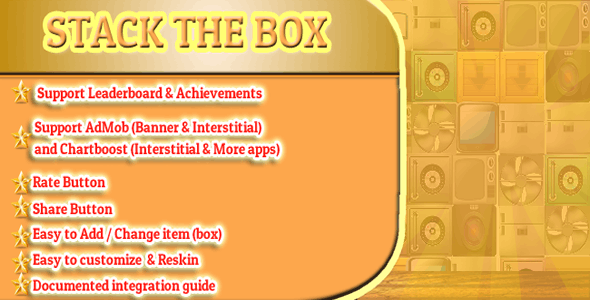 Stack The Box Corona SDK - CodeCanyon Item for Sale