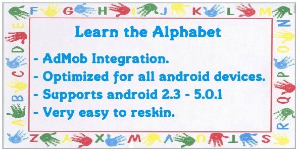 Learn the Alphabet With AdMob - CodeCanyon Item for Sale
