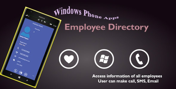 Employee directory for Windows Phone - CodeCanyon Item for Sale
