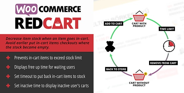 WooCommerce RedCart - Reduce stock on in-cart items - CodeCanyon Item for Sale