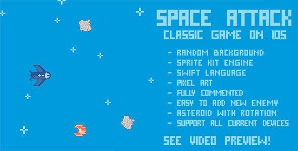 Space Attack - CodeCanyon Item for Sale