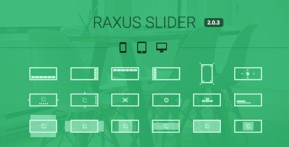 Raxus Slider / Easy-to-Use Advanced HTML5 Slider by bqra