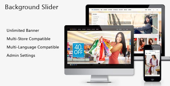 Fullscreen Background PrestaShop Slider