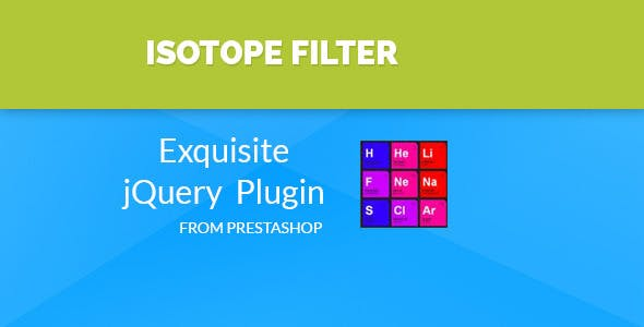 Isotope - Prestashop Filter