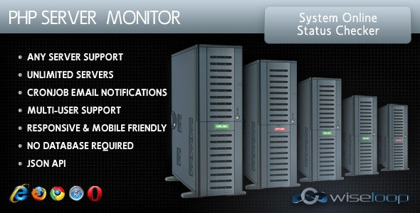 PHP Server Monitor - CodeCanyon Item for Sale