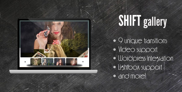 SHIFT Gallery - support for image/div/video/swf - CodeCanyon Item for Sale