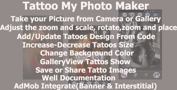 TattooMyPhotoMaker - CodeCanyon Item for Sale