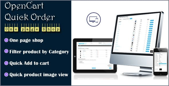 Wholesale Quick Order One Page Shop for OpenCart