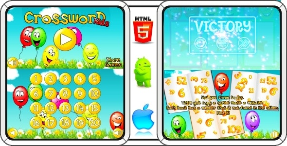 Crossword for Kids - Android Game + AdMob (Construct 3   Construct 2   Capx) - CodeCanyon Item for Sale