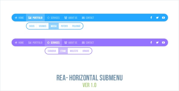 Rea - Horizontal Submenu - CodeCanyon Item for Sale