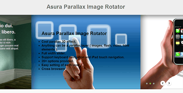 Asura Parallax Image Rotator - CodeCanyon Item for Sale