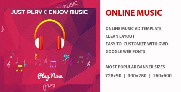 Music Ad Banner - GWD - CodeCanyon Item for Sale