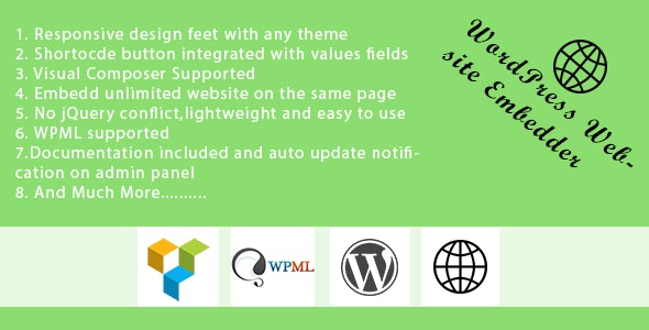 WP Website Embedder - Visual Composer Supported - CodeCanyon Item for Sale