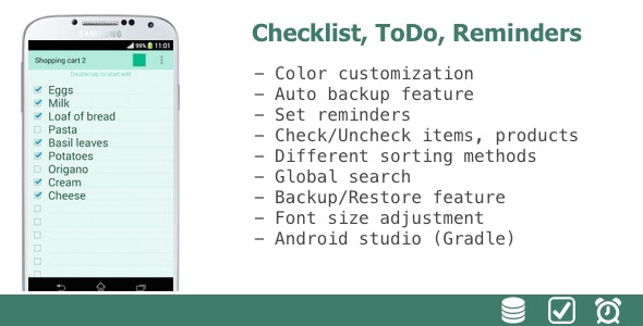 Color Checklist, TODO, Reminders - CodeCanyon Item for Sale