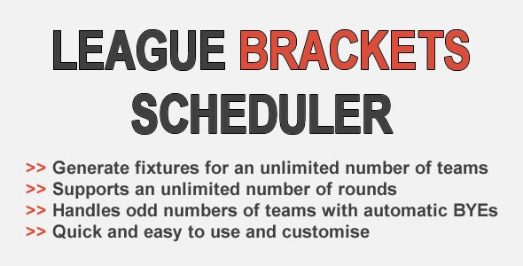League Brackets Scheduler - CodeCanyon Item for Sale