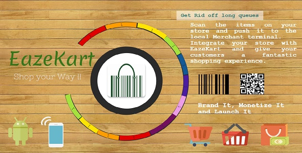 EazeKart - BarCode Scan App, queue less, retail, Shopping, Mobile POS - CodeCanyon Item for Sale