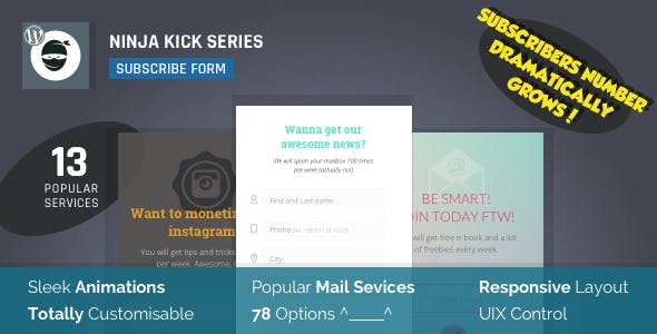 Email Opt-In Lead Generation WordPress Plugin — Ninja Kick