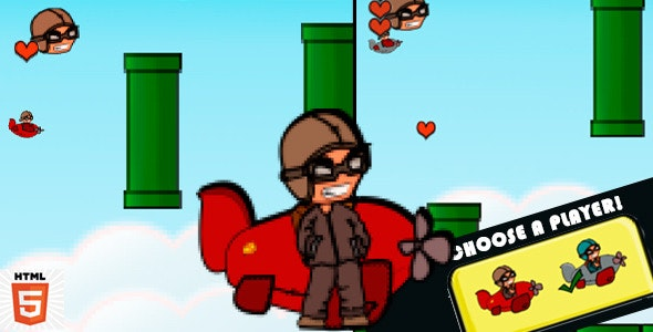 Helicopter HTML5 Game - CodeCanyon Item for Sale