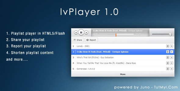 lvPlayer - Premium Audio Playlist - CodeCanyon Item for Sale
