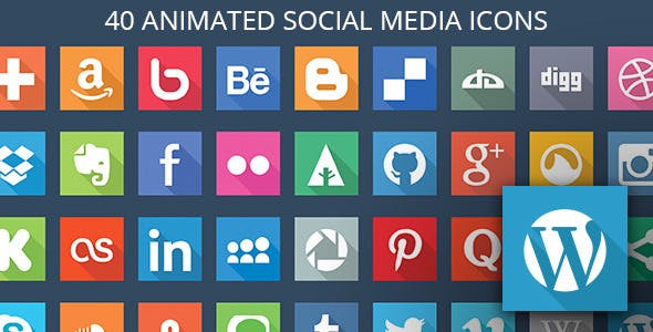 40 Animated SVG Social Media Icons for WordPress
