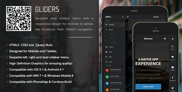 Gliders | Sidebar Menu for Mobiles & Tablets