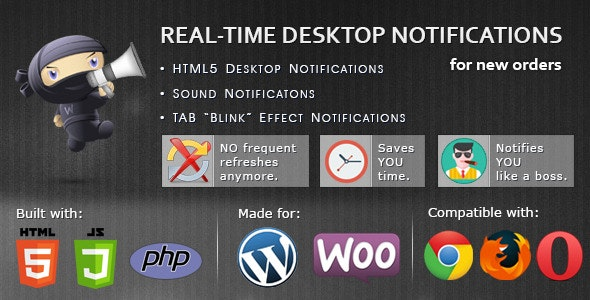 WooCommerce Real-time Desktop Notifications - CodeCanyon Item for Sale