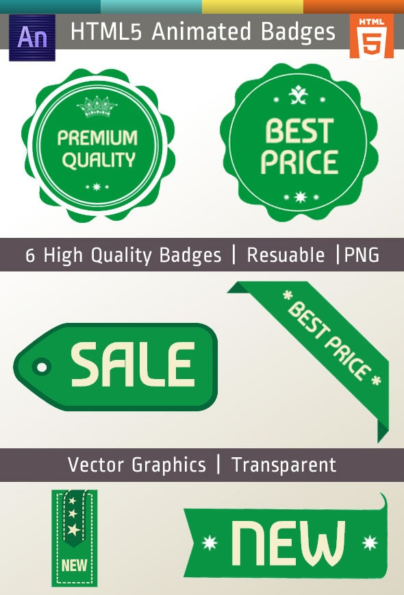 Edge Animate Badges HTML5 - CodeCanyon Item for Sale